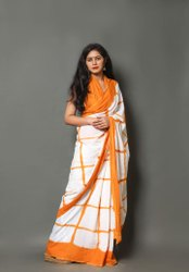 Hand Block Printed mulmul cotton saree