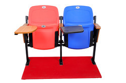 Auditorium Plastic Foldable Writing Tablet Chairs  - FWD