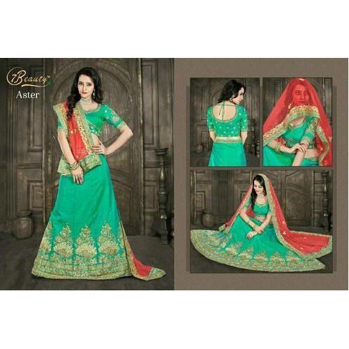 5e18213cea Semi-Stitched Green Fancy Bridal Lehenga Choli, Rs 2300 /piece | ID ...