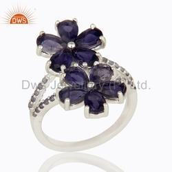 Iolite Gemstone Designer Sterling Silver Ring