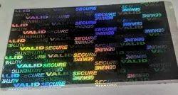 Secure Genuine Valid Hologram Overlay For Id Cards