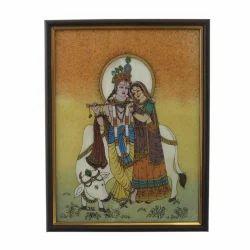 Radha Krishna Gemstone Painting 138