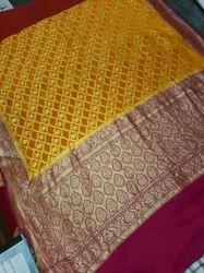 Designer Silk Chiffon Saree