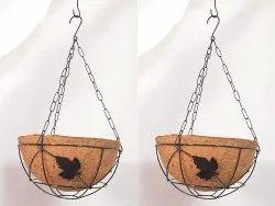 Coir Garden 10 Inch Water Hanging Leaf Design Basket