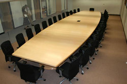 Grassroot Wooden Rectangular 28 Seating Conference Tables, Size: 7200x1200xh750mm, Warranty: 1 Year