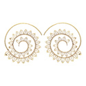 Roll Up Dashing Royal Jewelry Hoop Bali Gold Plated Plain Earring
