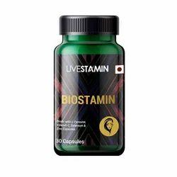 Biostamin Biotin Vitamin B7 Capsules  L-Tyrosine Selenium Zinc Supplement