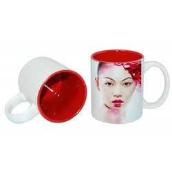 11oz Two-Tone Color Mug Red