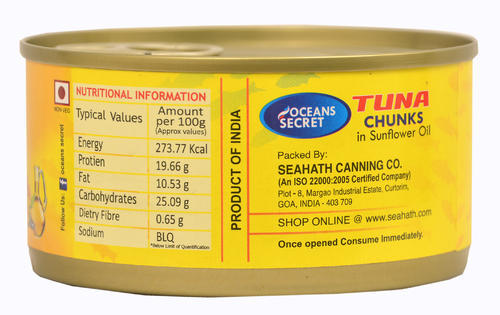 Tuna Chunks In Oil With Ginger Slice