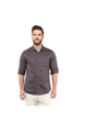 Printed Regular Slim Fit Shirt Grey M