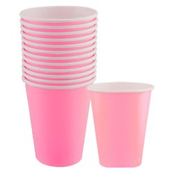 Pink Plain Paper Tea Cup, For Event, Capacity: 250 ML