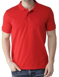 Mens Red Color Polo T Shirt