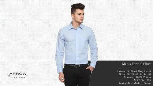 d7a0fffdf91c Plain Full Sleeve Office Wear Arrow Easy Care Shirts, Rs 899 /piece ...