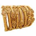 Brass Bangles Golden Net