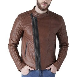 Genuine Leather Side Zip Jacket