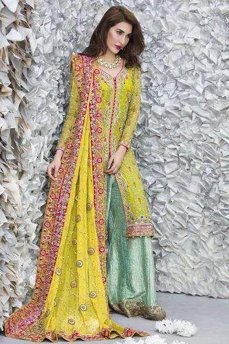 ada3761a5ccc Bridal Tail Gown Sharara Gharara Tailcut Wedding Dresses at Rs 40000 ...