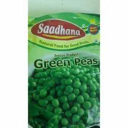 A Grade Saadhana Frozen Green Peas, Packet, Packaging Size: 750 Gm
