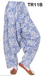 Cotton Hand Block Print Boho Harem Trousers Women's Gypsy Pants Lot TR11B