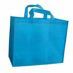 Sky Blue Loop Handle Non Woven Shopping Bag, Capacity: 2-5 Kg