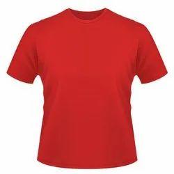Red Half sleeve Mens Round Neck T Shirt