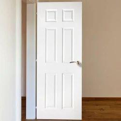 Polished White Hotel PVC Door