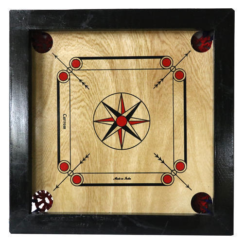 Aadil Sports Black, Cream Carrom Board For Kids