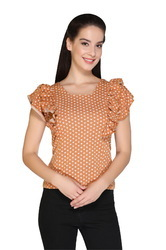 Trendy Crepe Top for Girls