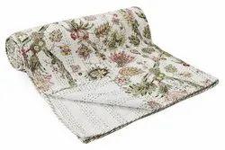 Handicraft-Palace Handmade Double Bed Size Kantha Quilt/Home Decor Cotton Gudari