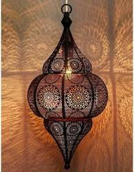 Metal Incandescent Bulb Antique Mosaic Hanging Light, Yes/ No