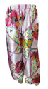 Japan Satin Silk Rose Printed Palazzo Pants