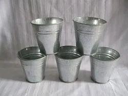 Galvanised Small Buckets, Size: Custom