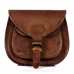 Pranjals House Brown Ladies Leather Shoulder Bag