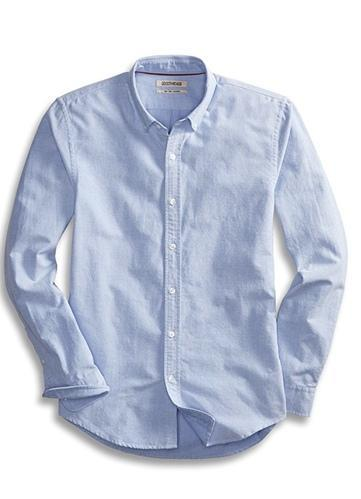 2bf782a11b2 Men  s Slim Fit Long Sleeve Solid Oxford Shirt