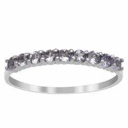 925 Sterling Silver Love Forever 9 Stone Half Eternity Tanzanite Gemstone Ring