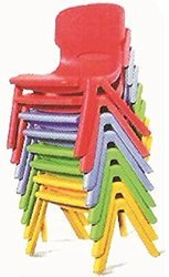 Cello Red, Yellow & Blue Plastic Chair For Kids