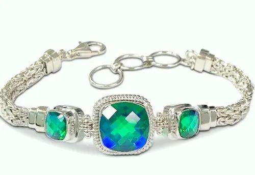 Labradorite Gemstone Cuff Bracelet