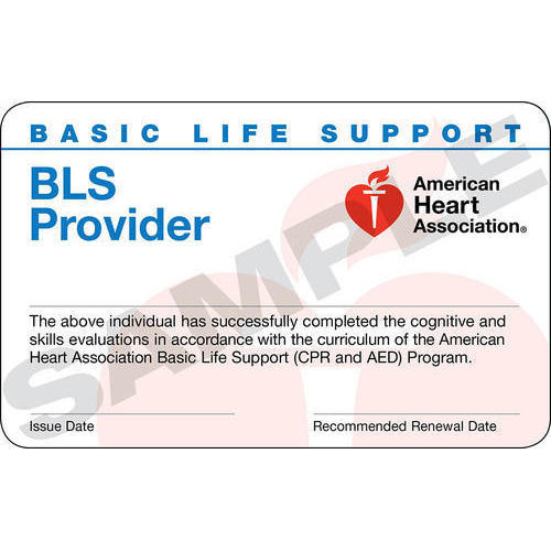 aha bls provider course completion card - emergicare trauma and life ...