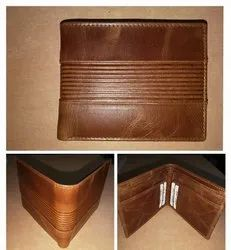 Rfid protected crunch leather wallet