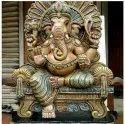 Maharaja Ganapathy wooden statue