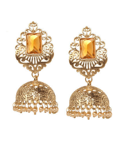 gold women round wholesale stud earrings p stone plated trendy for