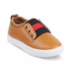 Kids Brown Lace Up Casual Shoes