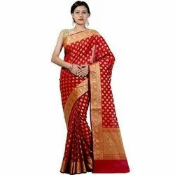 Printed Party Wear Sarees, Length: 5.2 m with Separate Blouse Piece