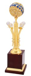 Diamond Gold Plated Trophy
