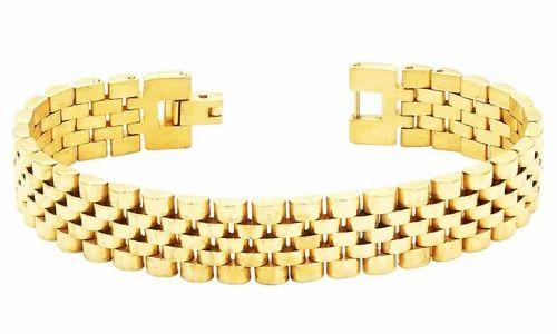 Valchand Jewellers Watch Strap Style 316l Stainless Steel 22k Gold Bracelet Men
