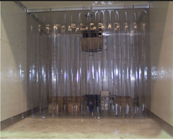 Transparent Ganik Strip Curtains, For Industrial, Packaging Type: Roll