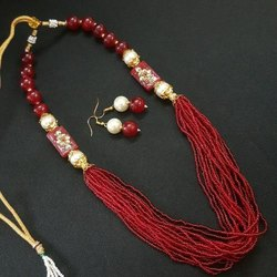 Assorted Glass Seed Beads Long Necklace