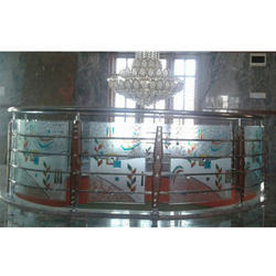 Designer Stainless Steel Glass Railing