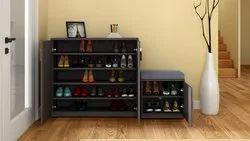 Godrej Interio Grey S29 Shoe Cabinet, Size: W X H X D (cm) 147.8 X 90 X 35, 5