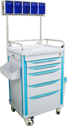 SI Surgical Anesthesia Trolley, Size: 850 X 520 X 950 Mm