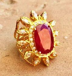 Ruby Spiral Ring